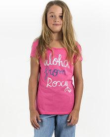 Roxy Aloha Girls From Roxy T-Shirt Pink