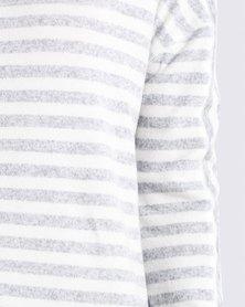 Roxy Keep Up Greys Stripe Long Sleeve T-Shirt
