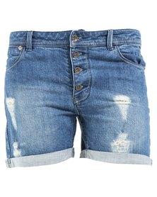 Roxy Seabury Denim Shorts Blue