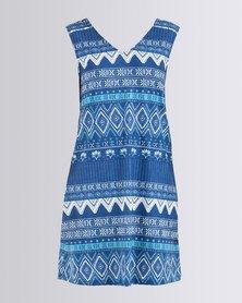 Roxy Let It Happen Dress Blue