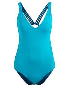 Roxy Strappy V-Neck Full Costume Blue