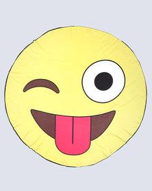 Royal T Emoji Polyester Beach Throw Multi