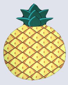 Royal T Pineapple Print Beach Mat Yellow