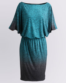 Ruff Tung Twiggy Ombre Dress Green