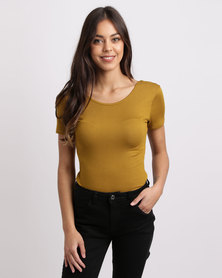 RVCA Bruxon Ribbed Top Yellow
