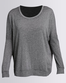 RVCA Label Dolman Pullover Grey