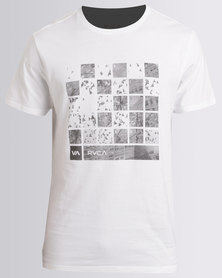 RVCA Checker Photo Standard Tee White