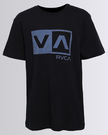 RVCA Warped Dotty Tee Black
