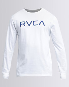 RVCA Big RVCA Long Sleeve White