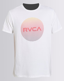 RVCA Motors Lined Standard Tee White