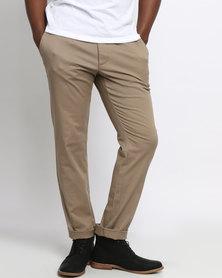 RVCA The Weekend Stretch Pants Dark Khaki