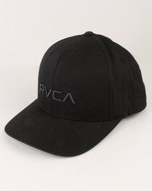 RVCA Flex Fit Black