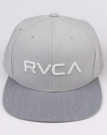 RVCA Twill Snapback Grey/White