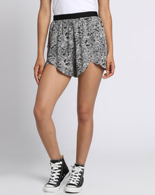 RVCA Crossed Paths Shorts White/Black