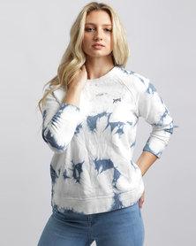 RVCA Clouded Fleece Top Multi