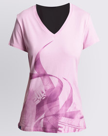 Bulls Panel Print T-Shirt Pink