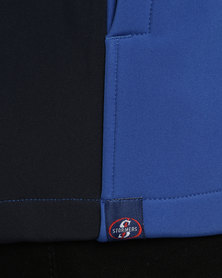 Stormers Zip-Up Soft Shell Jacket Blue