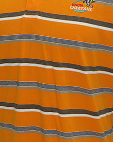 Cheetahs Yarn Dye Stripe Golfer Orange