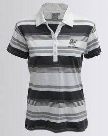 SA Rugby The Sharks Yarn Dye Stripe Golfer