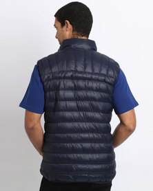 Bulls Zip-Up Puffer Gilet Navy Blue
