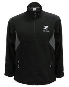 The Sharks Zip-Up Soft Shell Jacket Black