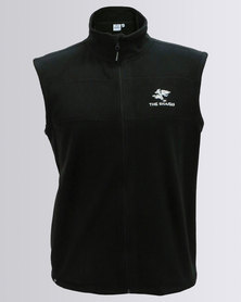The Sharks Zip-Up Polar Fleece Gilet Black