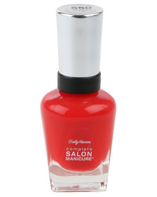 Sally Hansen Salon Manicure Nail Polish Fired Up Red