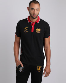 Santa Monica Polo Club Decade Polo T-Shirt Black
