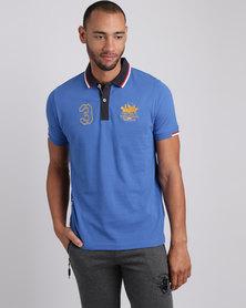 Santa Monica Polo Club Decade Polo T-Shirt Turquoise