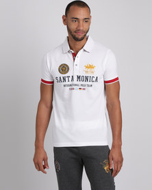 Santa Monica Polo Club Stakes Polo T-Shirt White