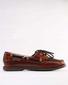 Sebago Leather Victory Casual Shoe Brown