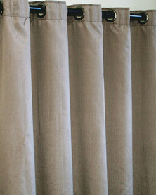 Sheraton Eyelet Curtain Taupe