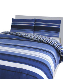 Sheraton Windsor Polycotton Duvet Cover Set Blue