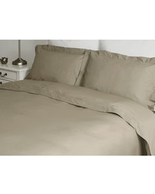 Sheraton Oxford Duvet Cover Set 200TC Stone