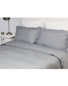 Sheraton Oxford Duvet Cover Set 200TC Grey
