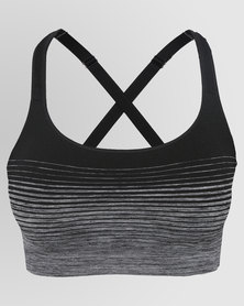 Shock Absorber Seamless Padded Crop Top Grey