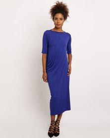 SIESisabelle Jo 3/4 Sleeves Dress Blue