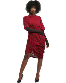SIES!isabelle Susi Dress Lace Burgundy