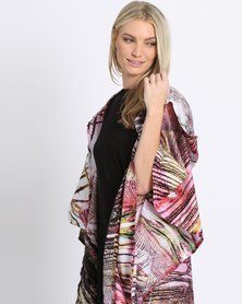 SIES!isabelle Berlin Coat Feather Swirl Print Pink