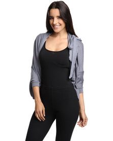 Sies! Isabelle Wrap Jersey Light Grey