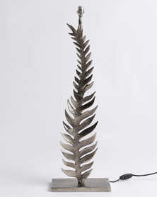 Signature Silverware Leaf Lamp Silver-tone