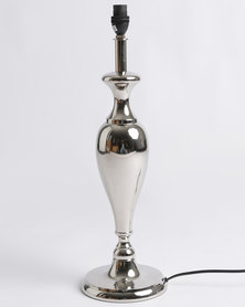 Signature Silverware Curve Lamp Silver-tone