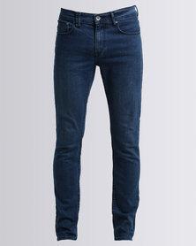 Silent Theory Strutta Jeans Scratch Blue