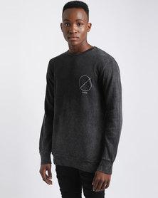 Silent Theory FulCrum Crew Sweat Shirt Acid Black