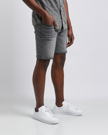 Silent Theory Ramble Denim Shorts Grey Oxide