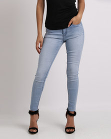 Sissy Boy Summer Days Axel Skinny With Bling Profile Jeans Light Blue