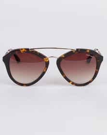 Sissy Boy Oval Shape Sunglasses Demi Brown