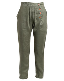 Sitting Pretty Alanis Harem Pants Olive