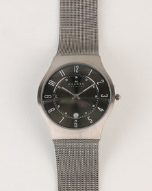 Skagen Grenen Stainless Steel Watch Grey