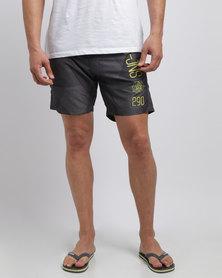Smith & Jones Decible Shorts Dark Shadow Grey